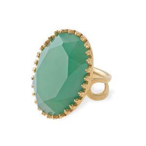Stella & Dot Green/Gold Camilla Ring